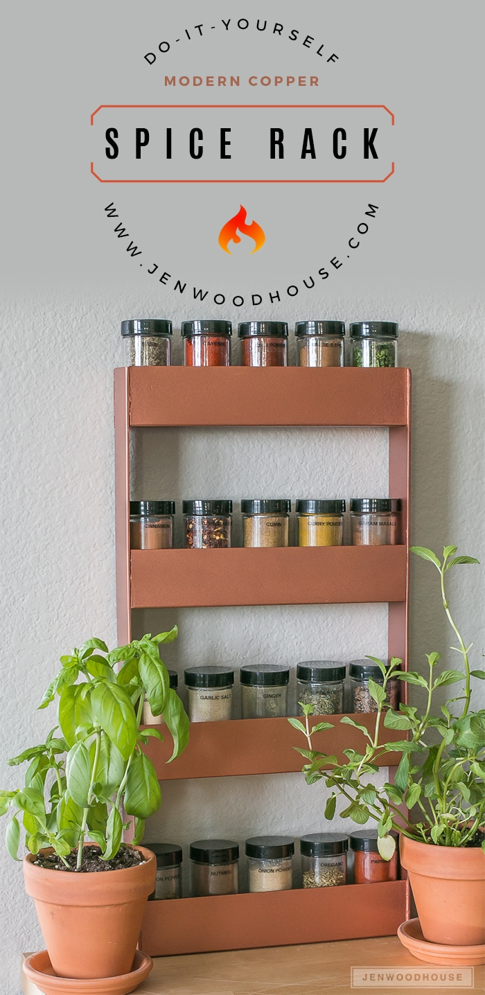 How to make a modern DIY copper metal spice rack with a blowtorch