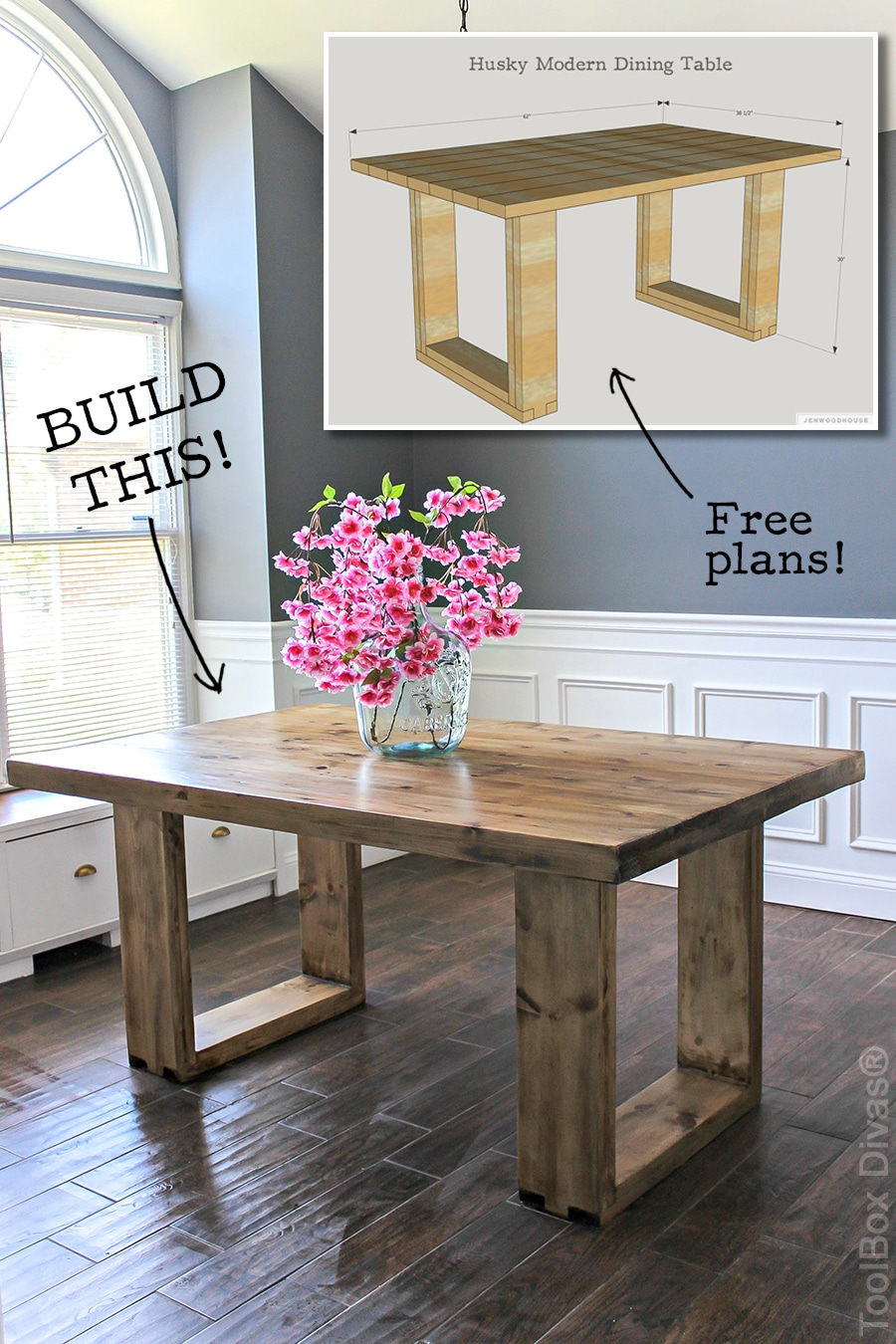 Diy Husky Modern Dining Table
