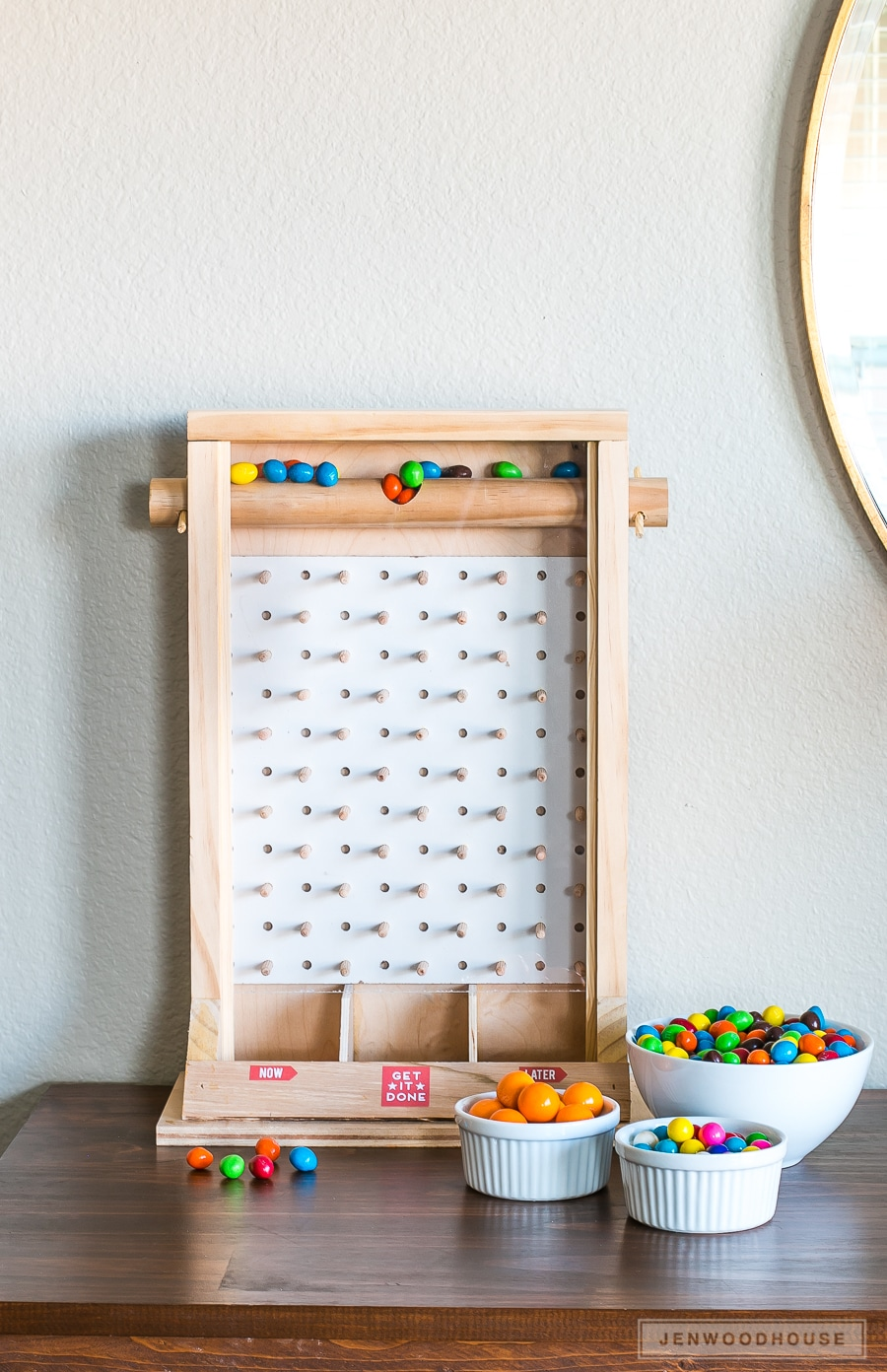How to make a DIY plinko game that's a fun candy dispenser