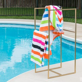 How to make a DIY Metal Poolside Towel Rack
