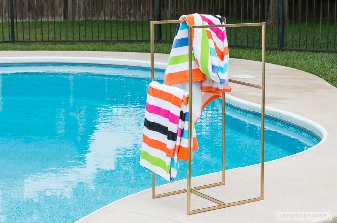 How to make a DIY Metal Poolside Towel Rack