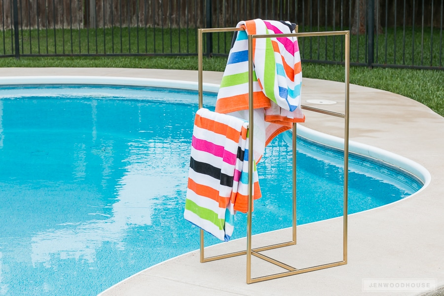 Poolside Towel Rack