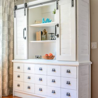 Sliding Barn Door Buffet
