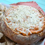 Pizza Dip Stuffed Bread Bowl