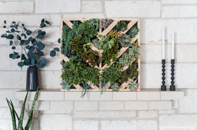 How to make a DIY vertical wall hanging succulent planter