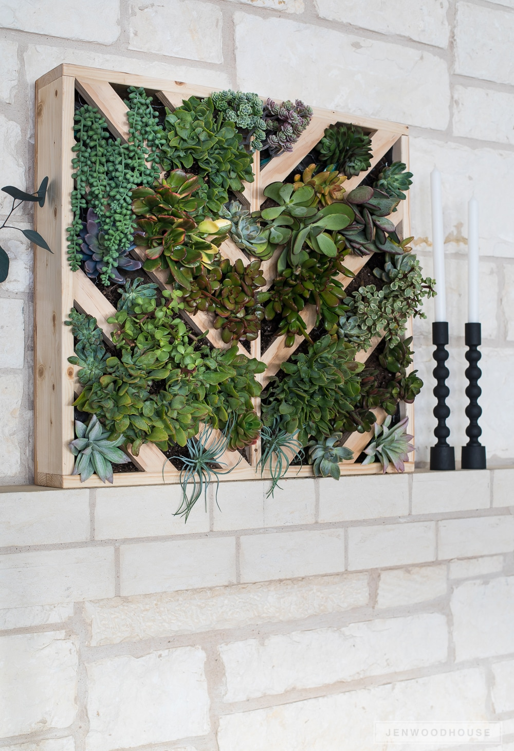 How to make a chevron wall planter
