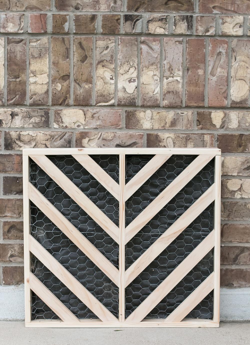 How to build a DIY chevron wall planter