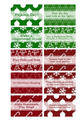 Fill your advent calendar with fun Christmas activities and random acts of kindness and service. Download these advent calendar cards!