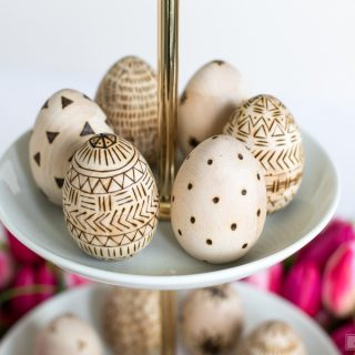 DIY Wood-Burned Easter Eggs